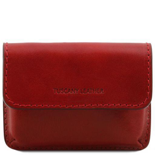Porta tarjetas de visita en piel Rojo TL141378