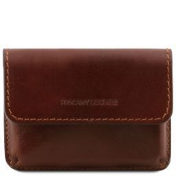 Exclusive leather business cards holder Brown TL141378