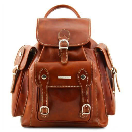 Pechino Leather Backpack Honey TL9052