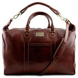 Amsterdam Travel leather weekender bag Brown TL1049