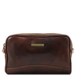 Igor Leather toilet bag Dark Brown TL140850
