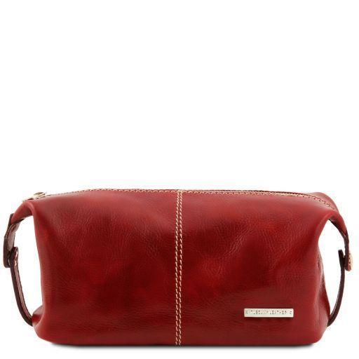 Roxy Trousse de toilette en cuir Rouge TL140349
