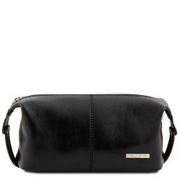 Roxy Kulturtasche aus Leder Schwarz TL140349