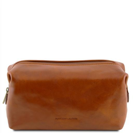 Smarty Leather toilet bag - Small size Honey TL141220
