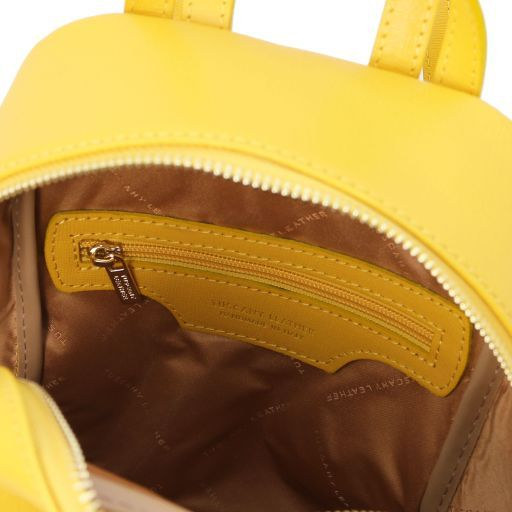 TL Bag Small Saffiano leather backpack for women Yellow TL141701