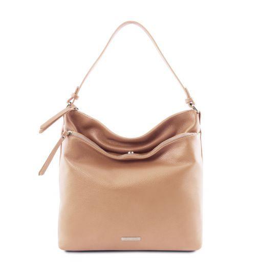 TL Bag Soft leather shoulder bag Champagne TL141874