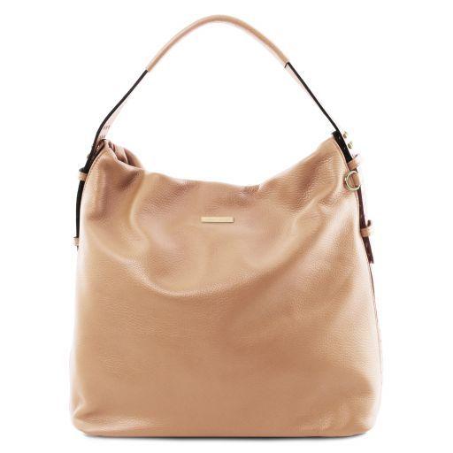 TL Bag Soft leather hobo bag Champagne TL141884