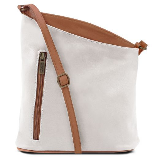 TL Bag Tracollina unisex in pelle Bianco TL141111
