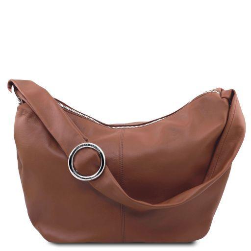 Yvette Soft leather hobo bag Cinnamon TL140900
