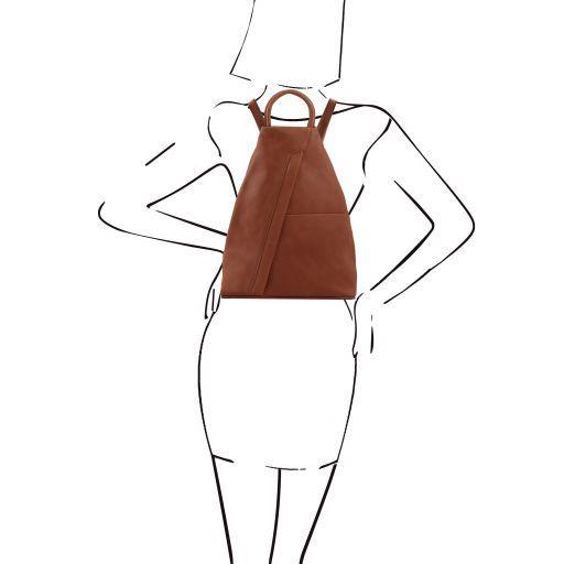 Shanghai Leather backpack Cinnamon TL140963