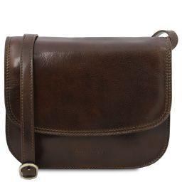 Greta Lady leather bag Dark Brown TL141958