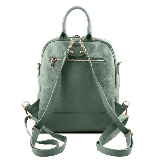 TL Bag Soft leather backpack for women Mint Green TL141376