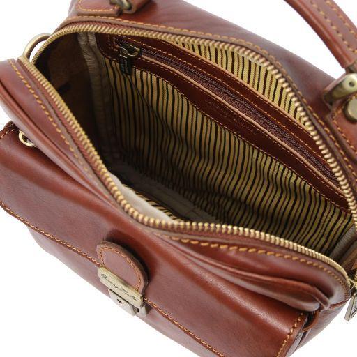 Brian Leather shoulder bag for man Brown TL141978