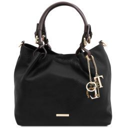 TL KeyLuck Borsa shopping in pelle morbida Nero TL141940