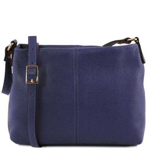 TL Bag Sac bandoulière en cuir souple Bleu foncé TL141720