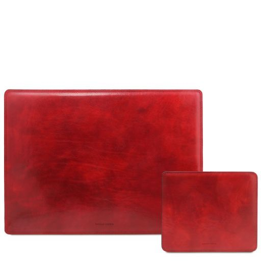 Office Set Leather desk pad and mouse pad Red TL141980