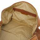 Oslo Travel leather duffle bag - Weekender bag Natural TL141913