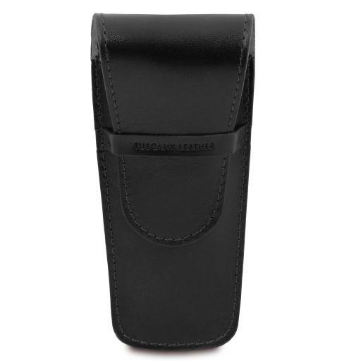 Elegante porta penne 2 posti/porta orologio in pelle Nero TL141273