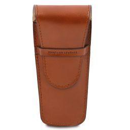 Exklusives Etui aus Leder für zwei Stifte/Uhren Honig TL141273