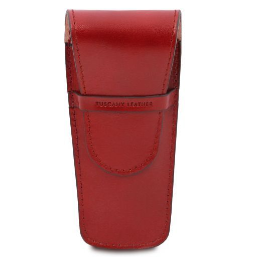 Exclusive leather 2 slots pen/watch holder Red TL141273
