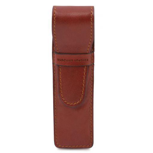Exclusivo portaboligrafo en piel Marrón TL141274