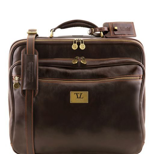 Varsavia Two Wheels Leather pilot case Dark Brown TL141454