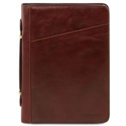 Claudio Exclusive leather document case with handle Brown TL141404