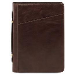 Claudio Exclusive leather document case with handle Dark Brown TL141404