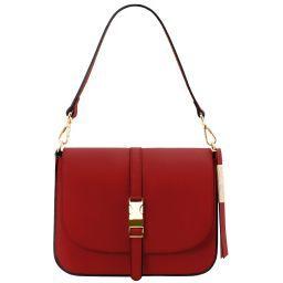 Nausica Schultertasche aus Leder Rot TL141598