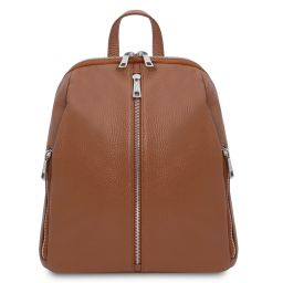 TL Bag Soft leather backpack for women Cognac TL141982
