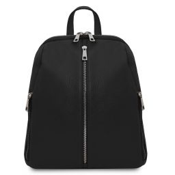 TL Bag Soft leather backpack for women Black TL141982