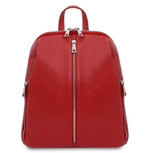 TL Bag Sac à dos pour femme en cuir souple Rouge Lipstick TL141982