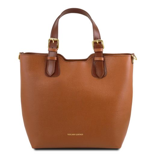 TL Bag Borsa shopping in pelle Saffiano Cognac TL141696