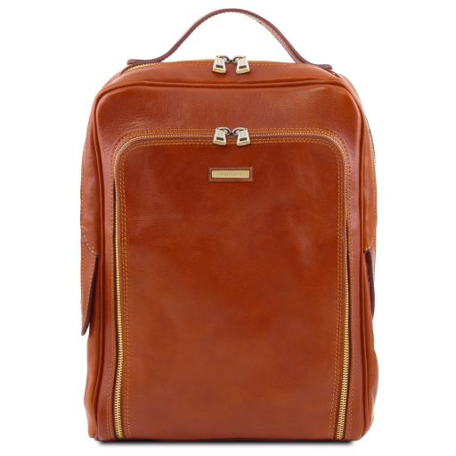 Bangkok Leather laptop backpack Honey TL141793