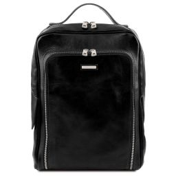 Bangkok Leather laptop backpack Black TL141793