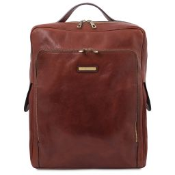 Bangkok Leather laptop backpack - Large size Brown TL141987