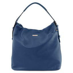 TL Bag Borsa hobo in pelle morbida Blu scuro TL141884