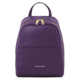 TL Bag Small Saffiano leather backpack for women Purple TL141701