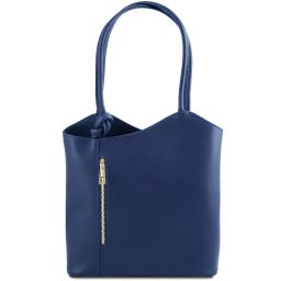 Patty Saffiano leather convertible bag Dark Blue TL141455