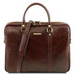 Prato Exclusive leather laptop case Brown TL141283