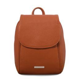 TL Bag Mochila en piel suave Cognac TL141905