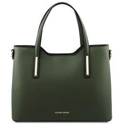 Olimpia Leather tote Forest Green TL141412
