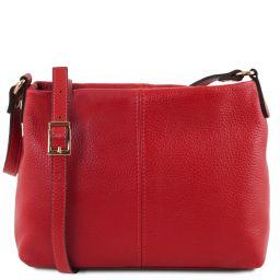 TL Bag Sac bandoulière en cuir souple Rouge Lipstick TL141720