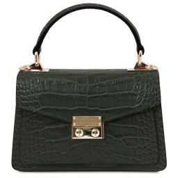 TL Bag Croc print leather mini bag Forest Green TL141995
