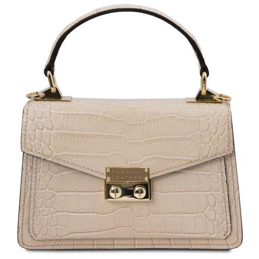TL Bag Mini borsa in pelle effetto cocco Beige TL141995