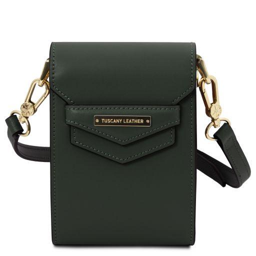TL Bag Leather shoulder bag Forest Green TL141996