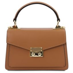 TL Bag Mini-Tasche aus Leder Cognac TL141994