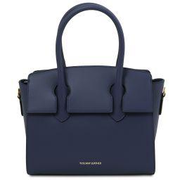Brigid Leather handbag Dark Blue TL141943