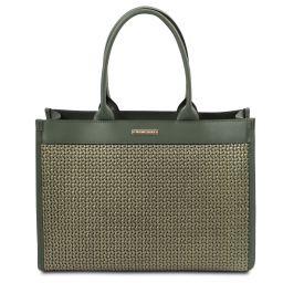 TL Bag Tasche aus geprägtem Leder Tannengrün TL141724