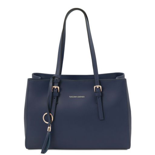 TL Bag Borsa al hombro en piel Azul oscuro TL142037